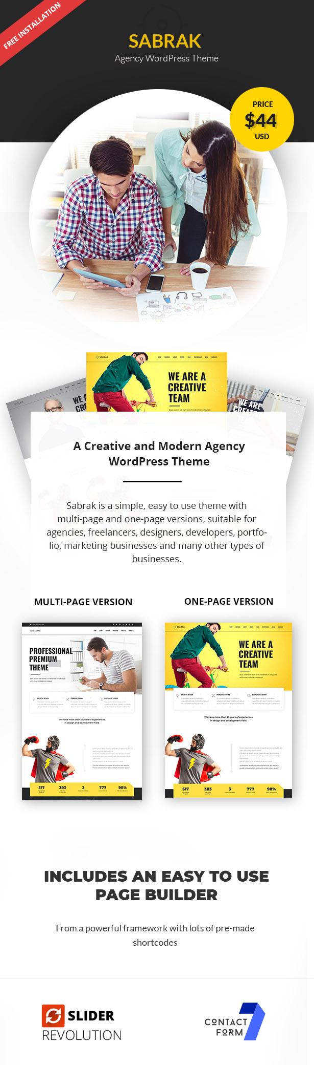 Sabrak - Agency WordPress Theme - 1